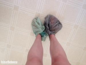 bagged feet