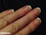 french manicure fingernails