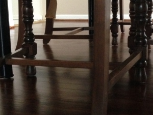 chair legs of a wooden floor