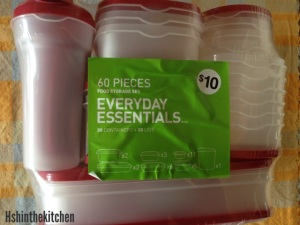 package of plastic tubs