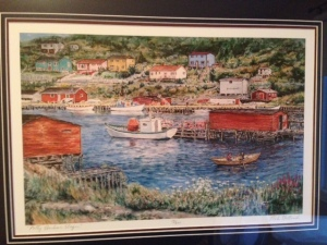 painting of Petty Harbour Nfld