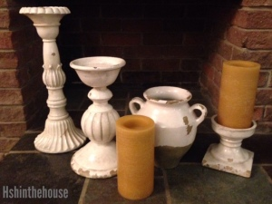 variety of pillar candle holders (+1 foot tall)