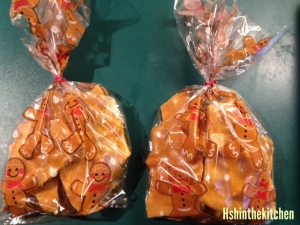 peanut brittle in celo bags