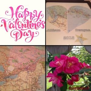 valentine's day map heart craft