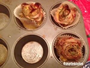 baked potato/bacon roses