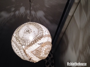 doily hanging lamp