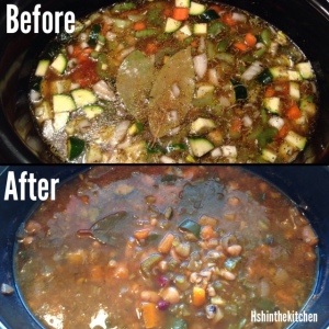 before and after slow cooker soup