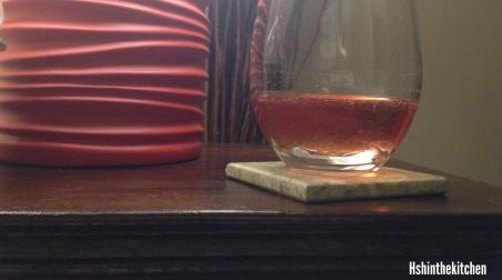 wine on coffee table