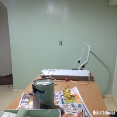 painting a green wall