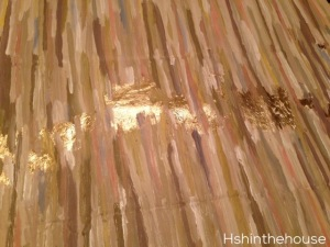 abstract art with gold leaf