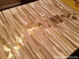 gold leaf diy artwork