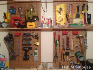 peg board tool wall