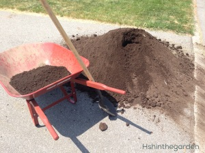 Soil and a wheel barrow