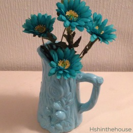 Blue spray painted jug